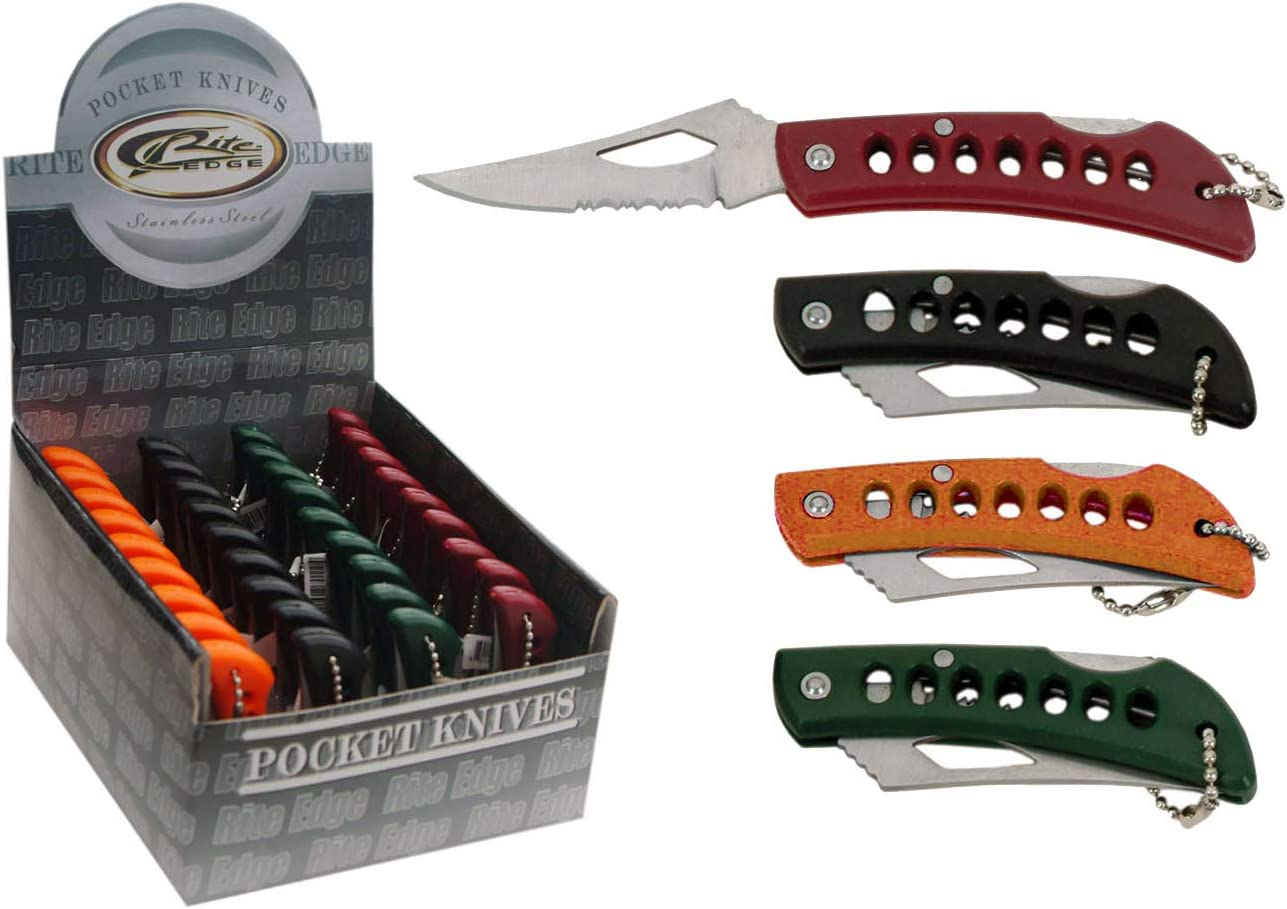 SZCO Supplies Assorted Keychain Knives 36-Piece