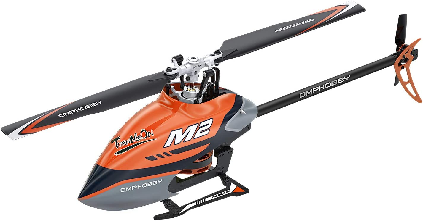 Racing Yellow OMPHOBBY M2 Dual-brushless Motor Direct-Drive 3D Helicopter-RTF