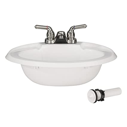 Amazon Com Recpro Oval Rv Bathroom Sink W Drain Stopper And Brushed