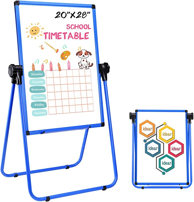 YEWOD Small Desktop Whiteboard with Stand Mini White Boards with Stand Dry Erase Whiteboard 360 Degree Adjustable for Kitchen Office Home