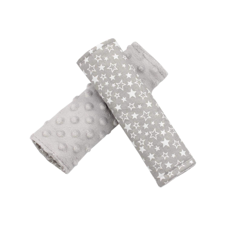 Estrellas Azul Oscuro//Azul TupTam Protectores para Cinturones de Coche para Ni/ños 2 pz