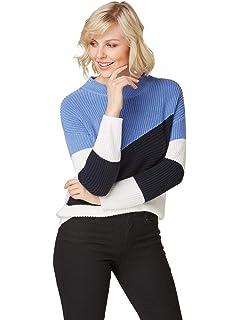 Bonita Damen Pullover mit gewellten Abschlüssen:
