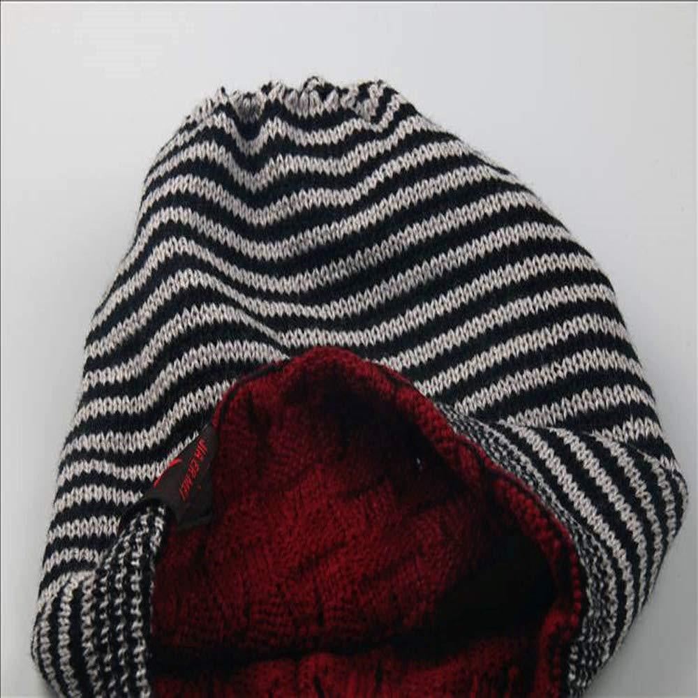 Styledresser Berretti da Uomo Inverno Cranio Uomini Knit Beanie Reversibile  Cascante Lana Berretto Caldo Unisex Cappello dc3b7a839266