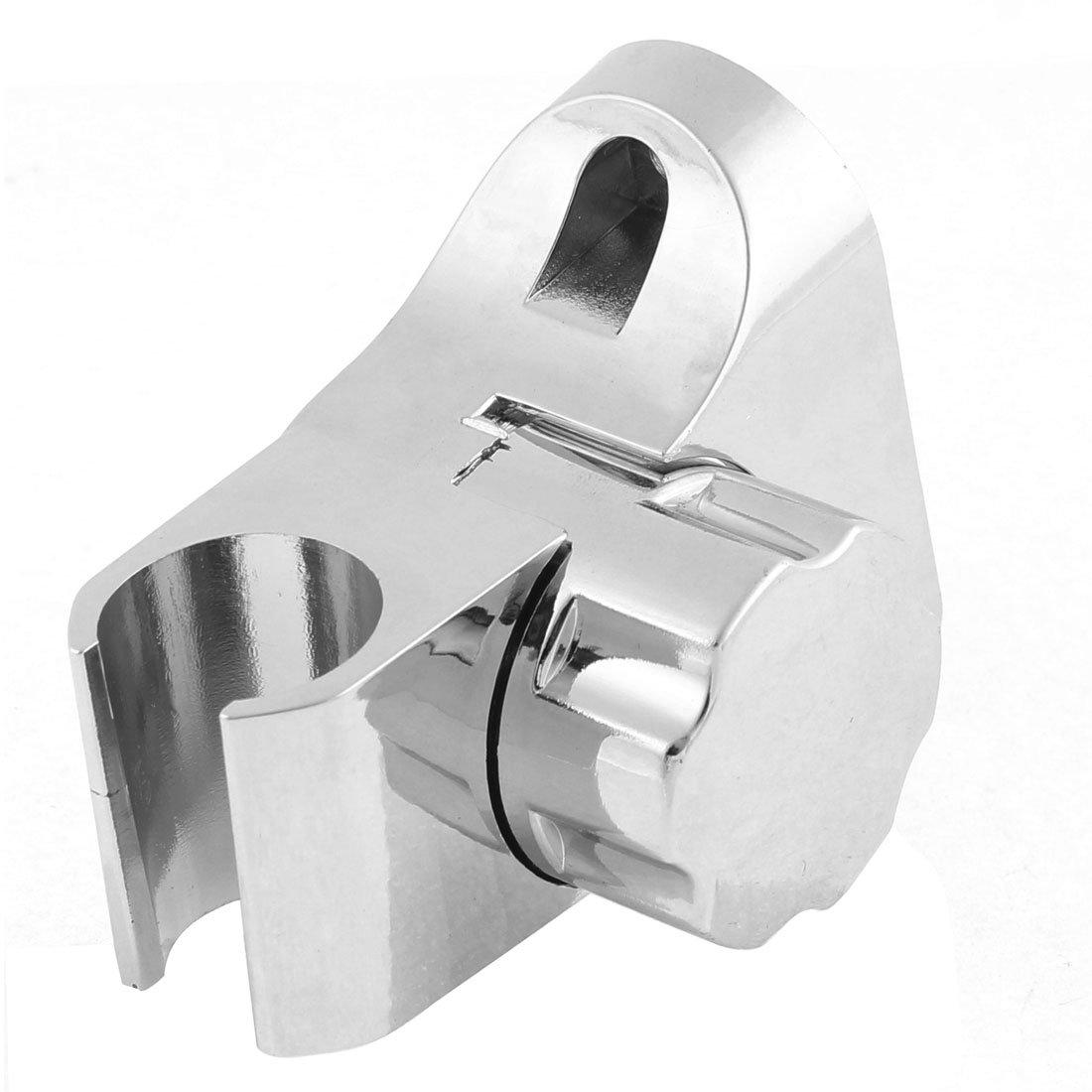argento colore Supporto per manico doccia rotabile in plastica