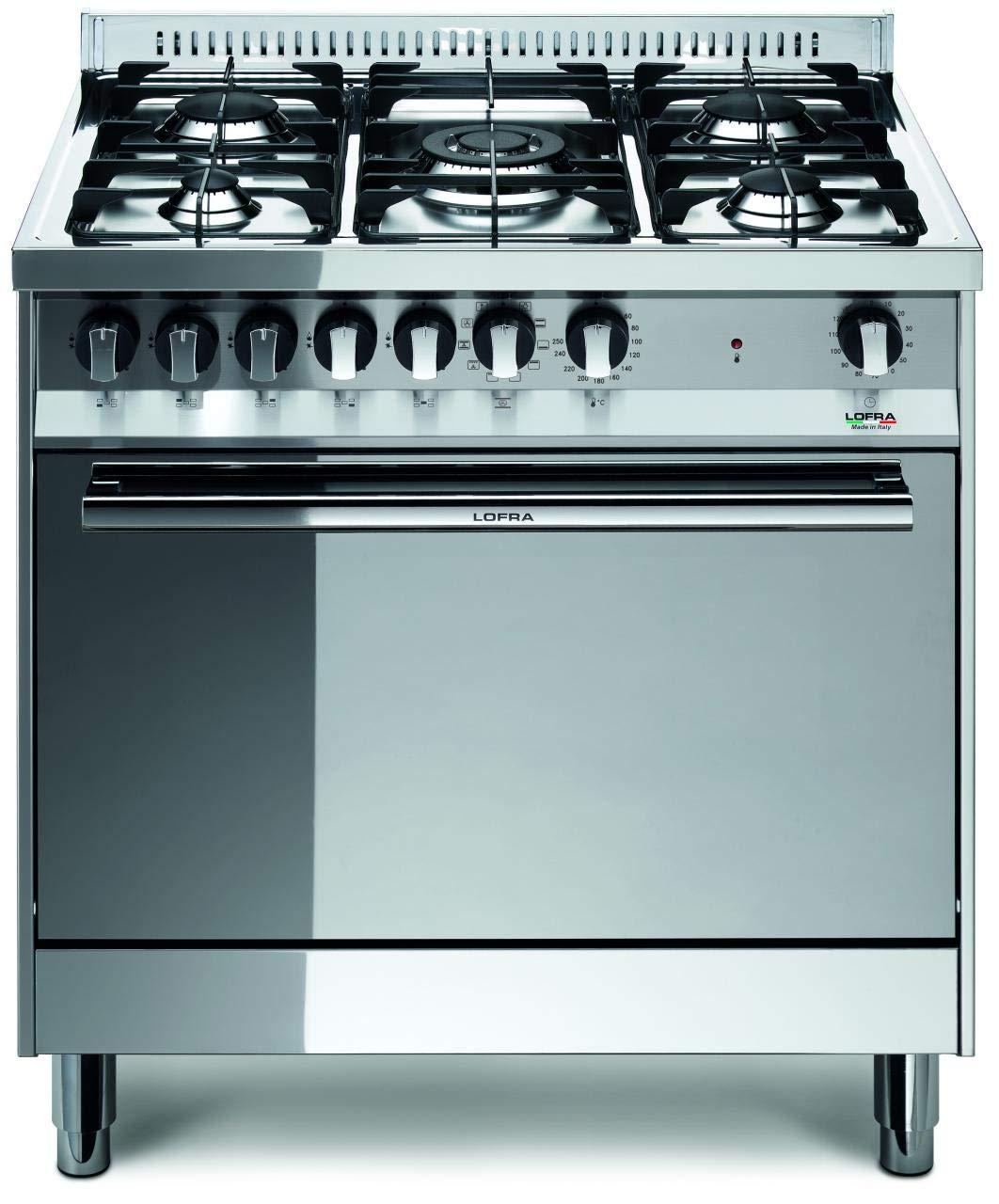 Cucine A Gas Con Forno A Gas Usate.Lofra Mg86gv C Cucina A Gas Acciaio Amazon It Grandi