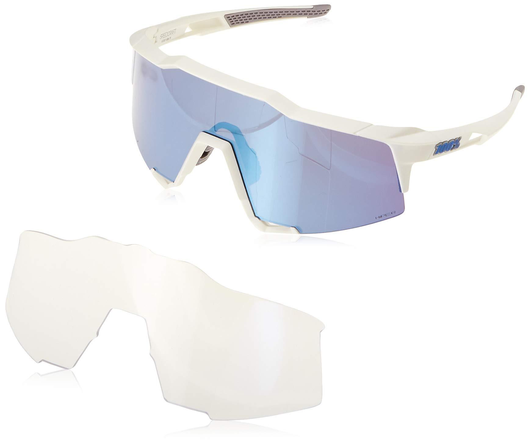 100% Unisex-Adult Speedlab (61001-000-75) Speedcraft-Matte White-HiPER Blue Multilayer Mirror Lens, Free Size) by 100% (Image #5)
