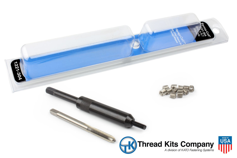 Perma Coil 1221-304 Metric Thread Repair Kit M4X0.7 12PC Helicoil 5403-3.5