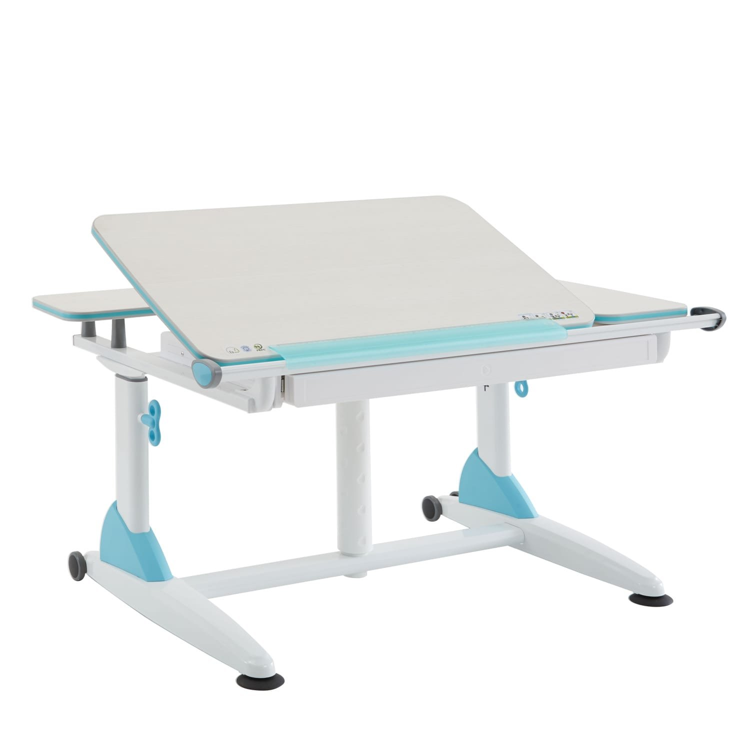 TCT Nanotec Kid 2 Youth Sit to Stand Kids Ergonomic Desk with Drawer Blue