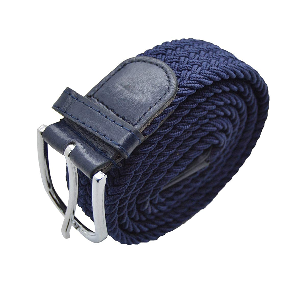 Blue #AAAS Top Men Elastic Fabric Woven Belt Expandable Braided Stretch Belt M