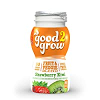 good2grow Strawberry Kiwi Juice Refill, 24-pack of 6-Ounce BPA-Free Juice Bottles, Non-GMO with Full Serving of Fruits and Vegetables, for use with our Spill-Proof Toppers
