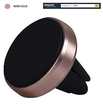 huiker® Universal Air Vent magnética soporte coche con cromo pulido Grip Base y oro rosa