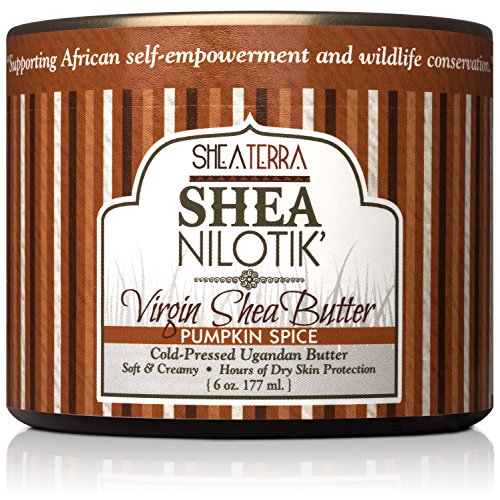 - Shea Terra Organics 100% Organic Cold Pressed Virgin Shea Butter Scented with Pumpkin Seed Essential Oil and Natural Spices | Natural Daily Skin Cream – 6 oz