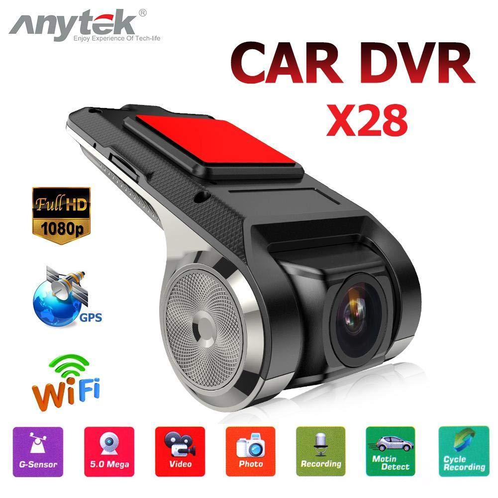 Gowind6 Anytek X28 1080P Full HD c/ámara DVR para Coche WiFi G-Sensor Auto grabadora Dashcam