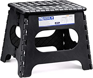 Acko 11 Inches Folding Step Stool for Kids Adults Kitchen Garden Bathroom Stepping Stool Black
