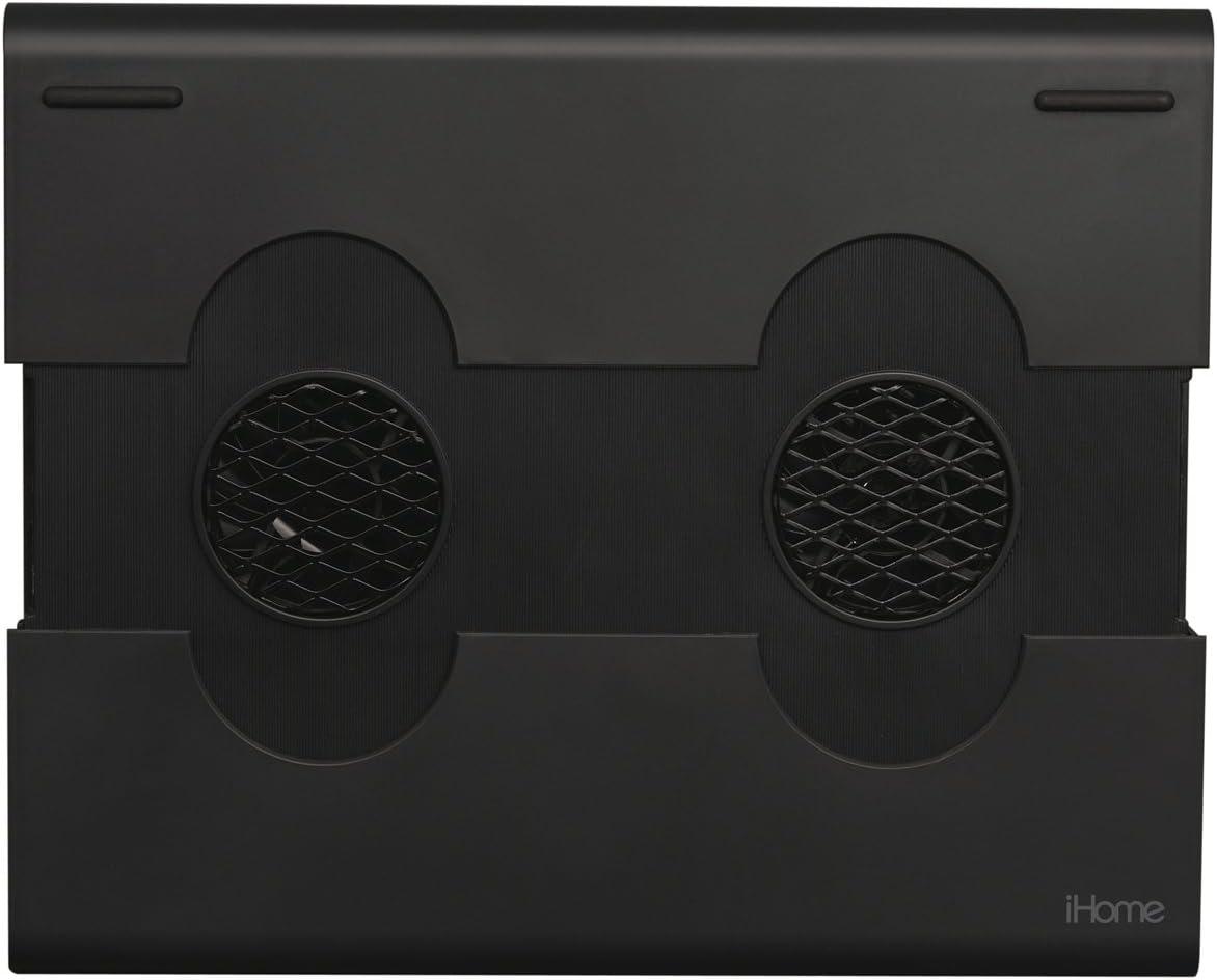 iHomeNotebook Cooling Pad with 3 USB 2.0 Ports - Black (IH-A705CB)