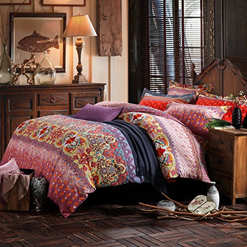 lelva country style bedding sets bohemian style bedding boho style bedding set boho duvet. Black Bedroom Furniture Sets. Home Design Ideas