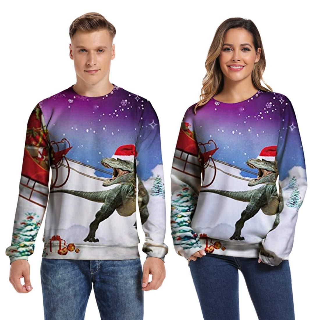 URVIP Unisex 3D Printed Realistic Casual Galaxy Hoodies Pullover Sweatshirt