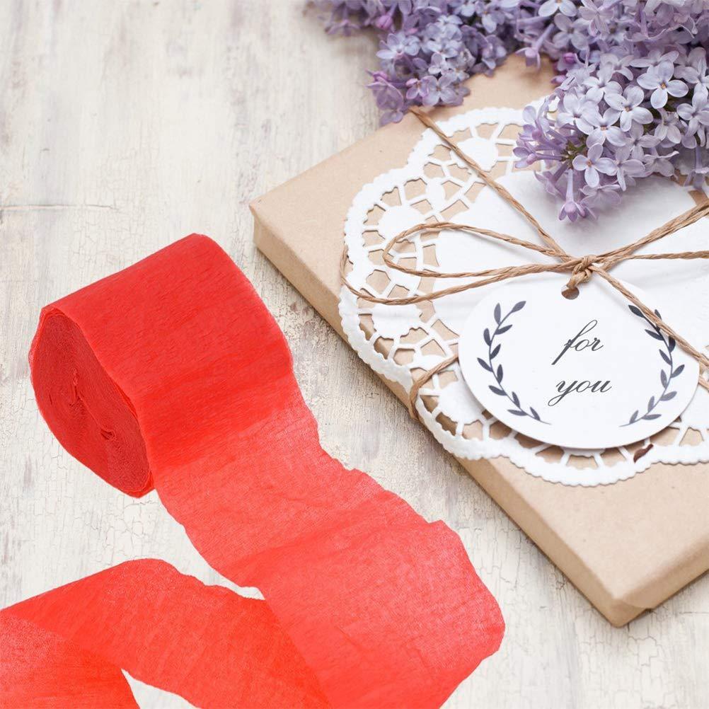 Vosarea Carta Crespa Stella Filante Decorazioni di carta di nozze per il concerto di compleanno e vari festival 6 pezzi