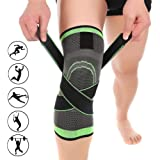 OZSTOCK Knee Sleeve 3D Weaving Knee Brace Breathable Support for Running, Jogging, Sports, Joint Pain Relief, Arthritis…