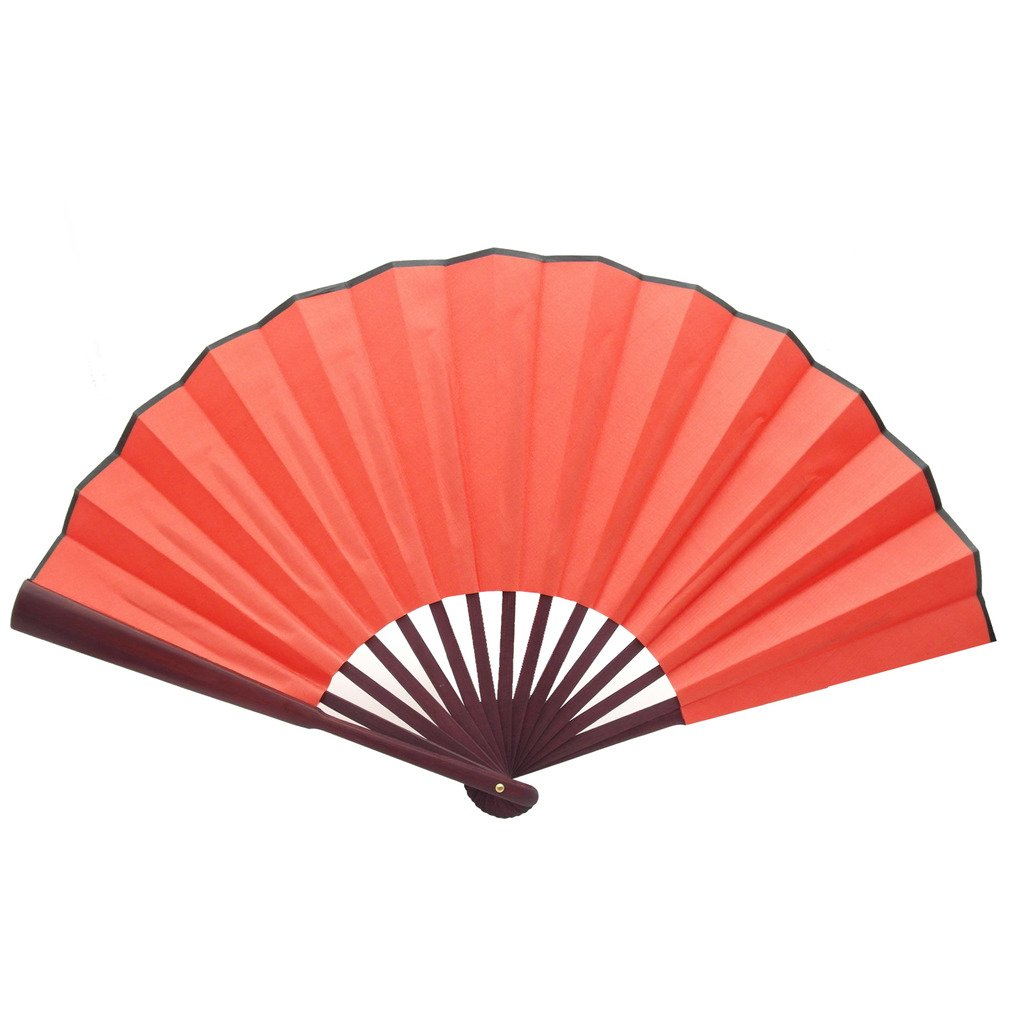 TRENDBOX Chinese Traditional Nylon-Cloth Handheld Folding Fan - 1 Set (5 Colors)