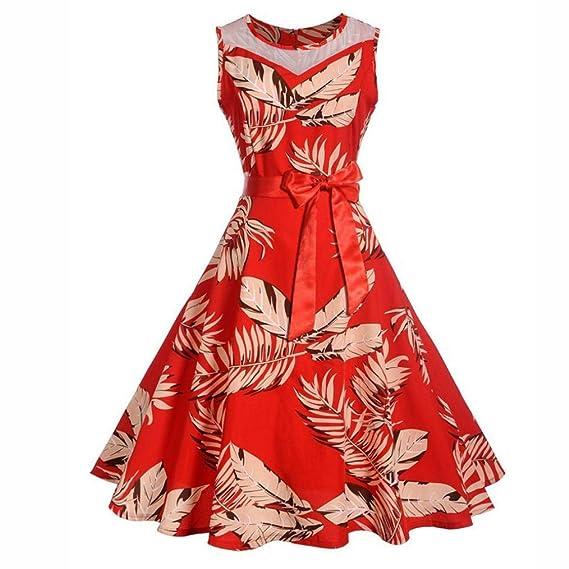 POLP Vestidos Cortos, Estilo Hepburn Vestido Mujer Verano Mini Vestido Mujer Vestido Estampado de Gasa, Niña Vestido de Fiesta Vestir Ropa Falda Chaleco ...