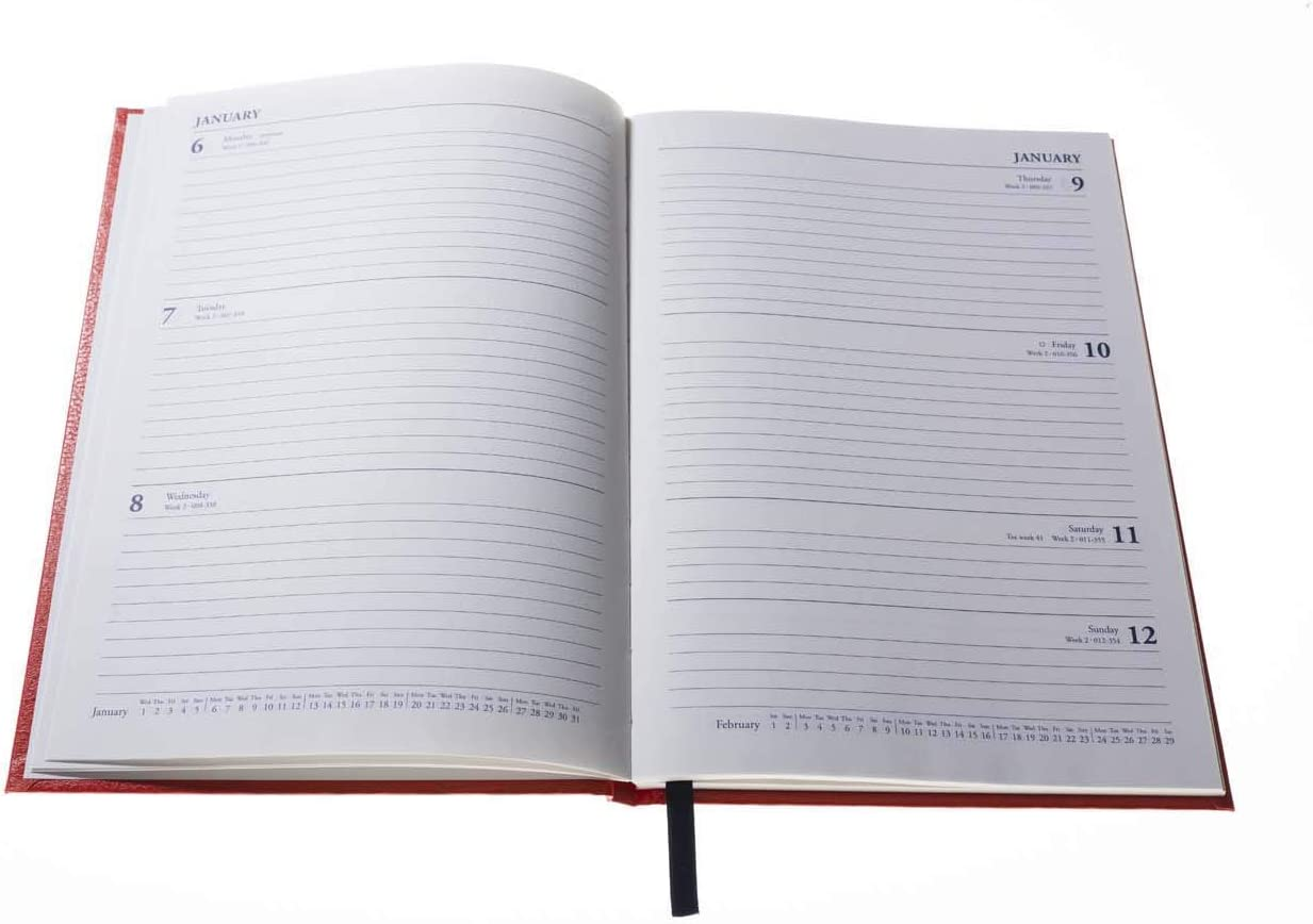 Black Collins 35 A5 Week to View 2021 Desk Diary
