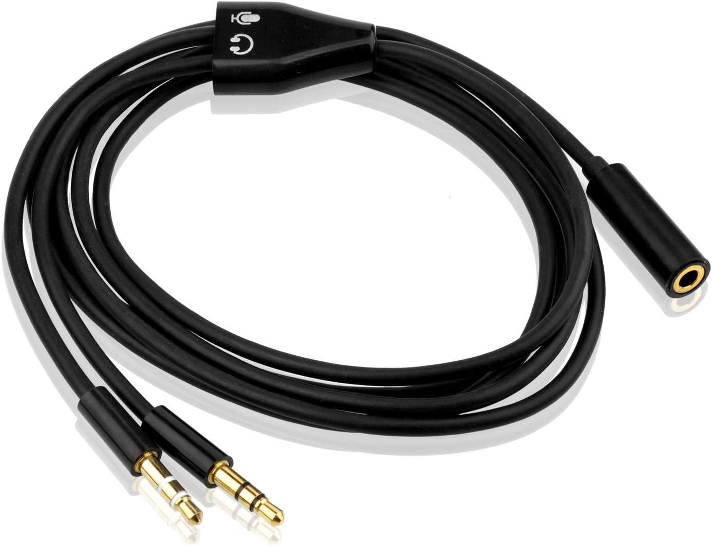 Smartphone 1.5m Sdoppiatore Cuffie Jack Splitter Audio,S SIENOC Sdoppiatore Stereo 2 Maschio 3,5 mm a Femmina splitter per Cuffia Auricolare Tablet