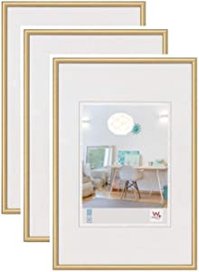 Walther New Lifestyle Photo Frame Wall Decoration, 5x7 Inch (13x18 cm), Gold