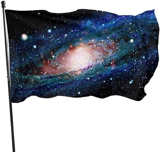 屋外屋内ガーデンバナーサインヒップスターギャラクシー壁紙(15)旗3x5フットガーデン屋内屋外パーティー装飾バナーブラックワンサイズ