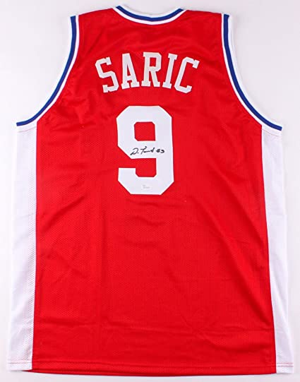 09bac491328 Dario Saric Autographed Signed 76ers Red Jersey - JSA Certified at ...