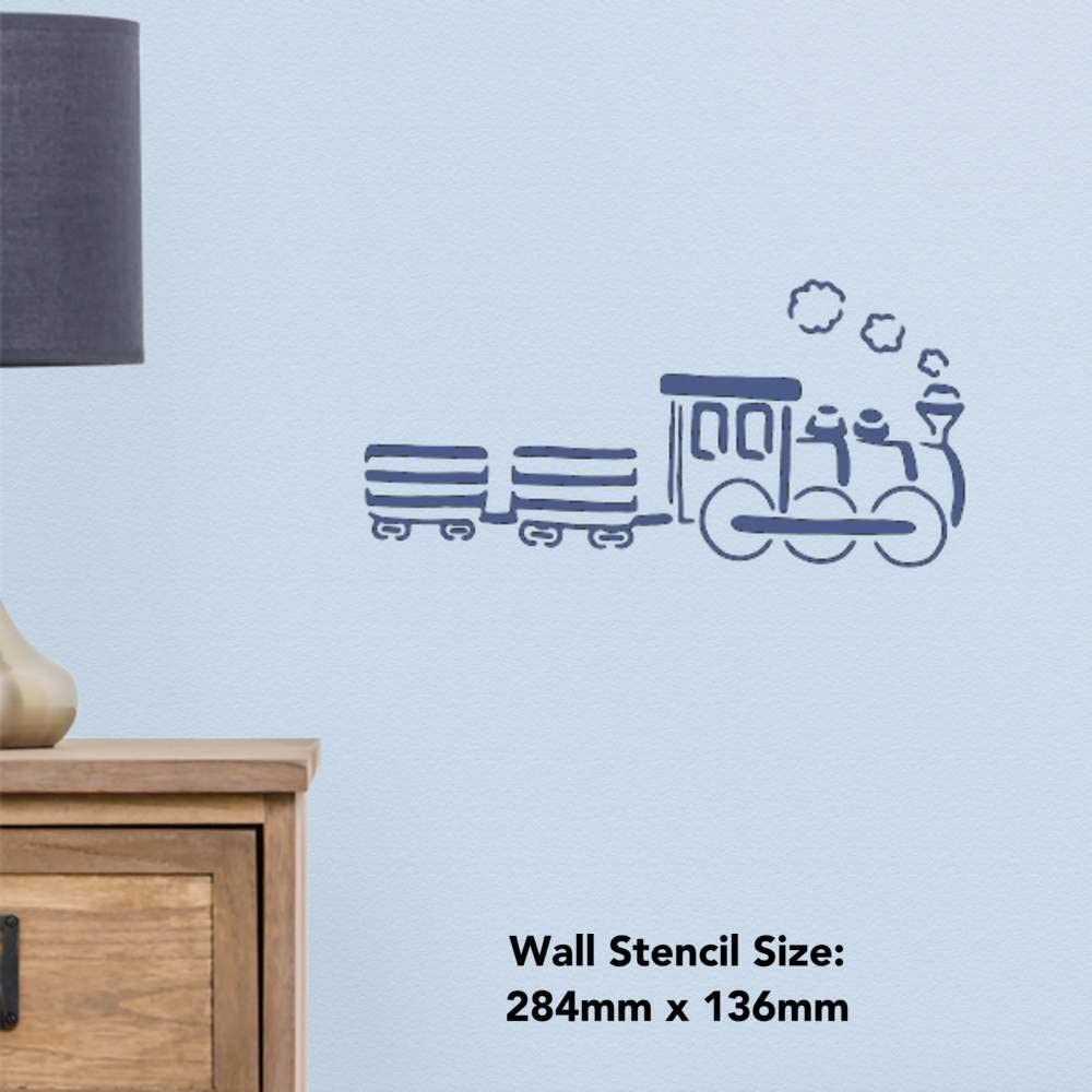 WS00016604 Gro/ß A2 Zug Wandschablone Vorlage
