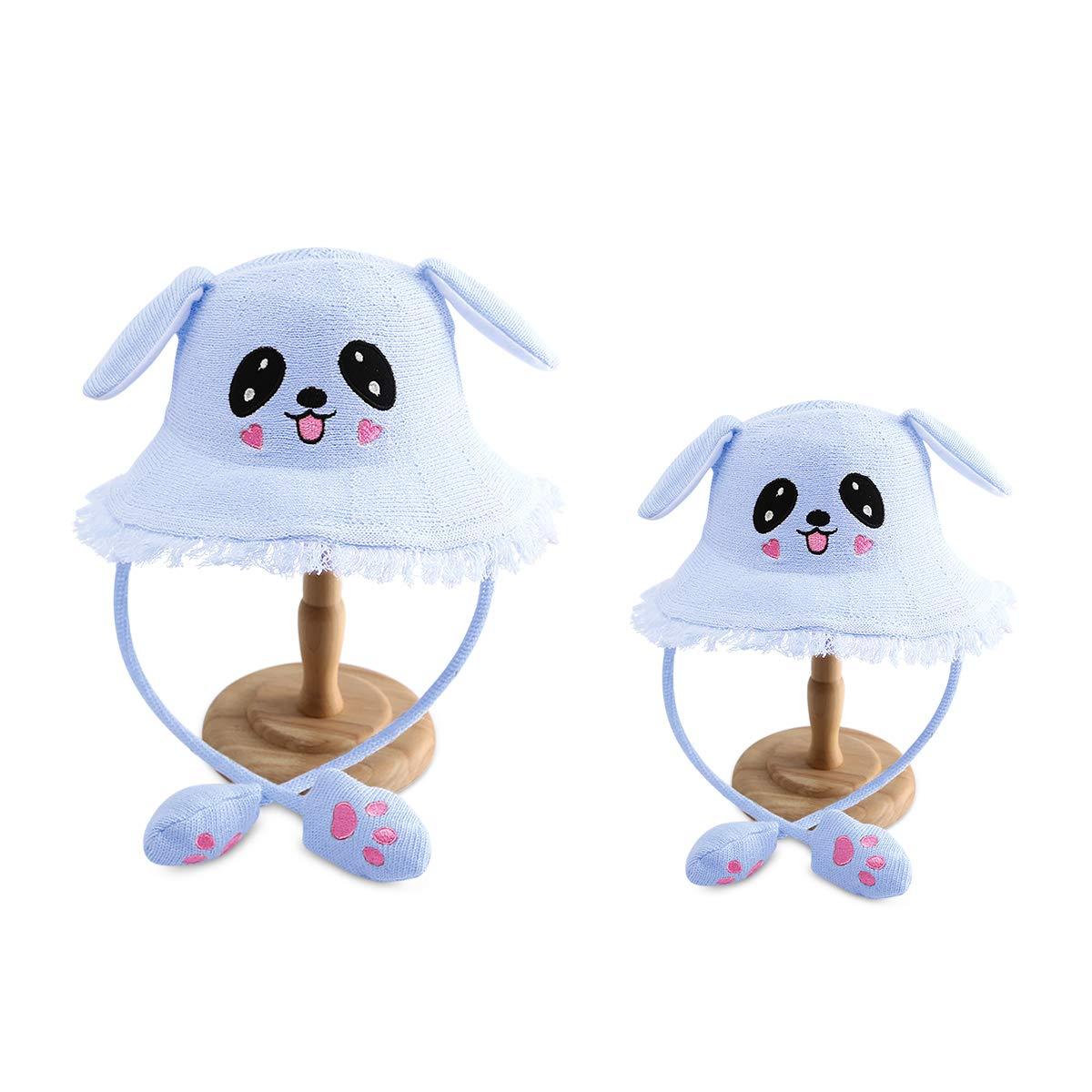 DORRISO Lindos Sombreros de Padres-ni/ño Bebe Gorros Ni/ña Oto/ño Invierno Primavera Calentar Peque/ña Mujeres Gorro Linda Sombrero de Oreja de Conejo