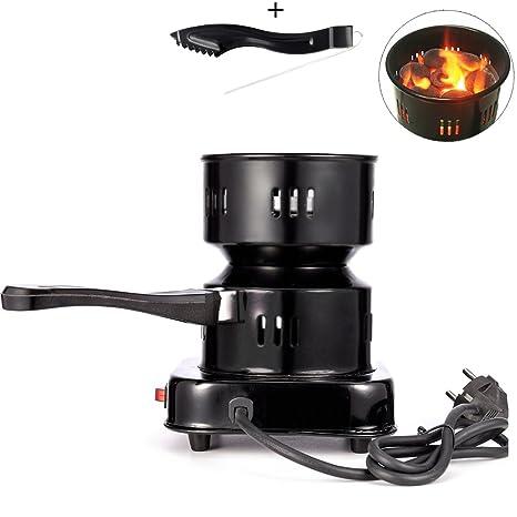 Hornillo Hookah Encendedor Eléctrico Portátil IMMIGOO Para Carbón narguile Cachimba Shisha Chicha Placa Heat Up Para