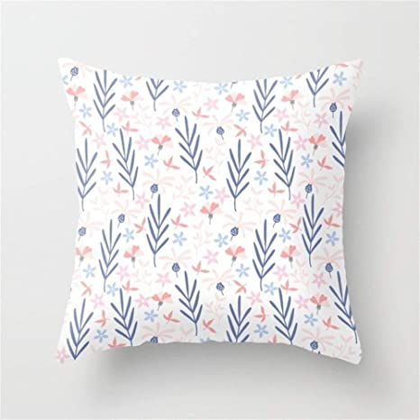 LULABE Floral (76) Throw Pillow Cushion Cover for Couch Sofa ...
