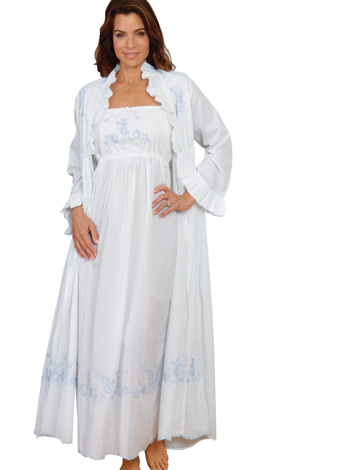 Schweitzer Linen Melanie Robes, Blue (Medium) by Schweitzer Linen