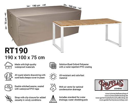 Raffles Covers NW-RT190 - Funda para Mesa de jardín (190 x 100 x ...