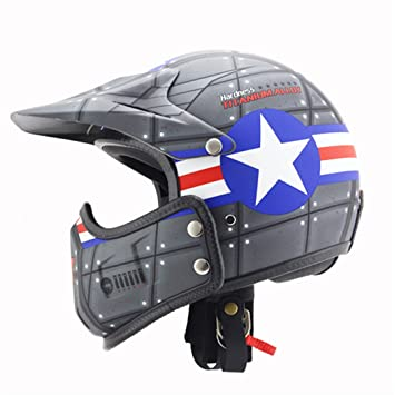 Motocross Casco Moto Vintage Motocicleta Casco Jet Capacetes De Motociclista Off Road Cascos para Moto Thompson