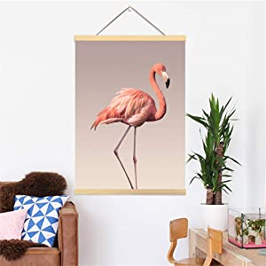 Greenpure Poster Frame 12x18 inch Tropical Flamingos Home Decor Wall Art Canvas Poster Hanger Frame for Living Room Decorative Painting Hanging Kit for Walls Canvas Artwork