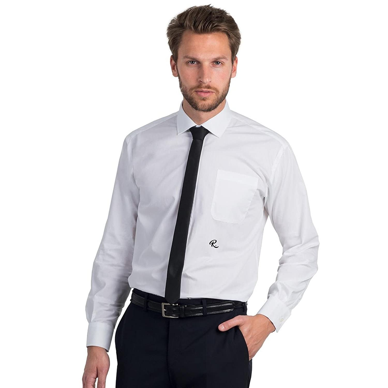 Camicia BCSMP41 con Iniziale Ricamata R Popeline Easy Care Long Sleeve Men- Tutte Le Taglie by tshirteria t-shirteria