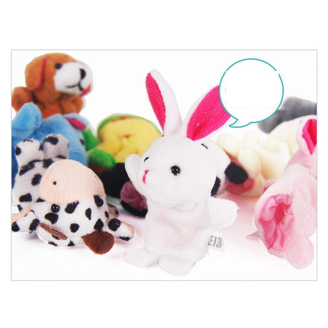 set Cute Animal Finger Puppet Plush Toys Toy Toy Marionetas de dedos Kaimus 10pcs