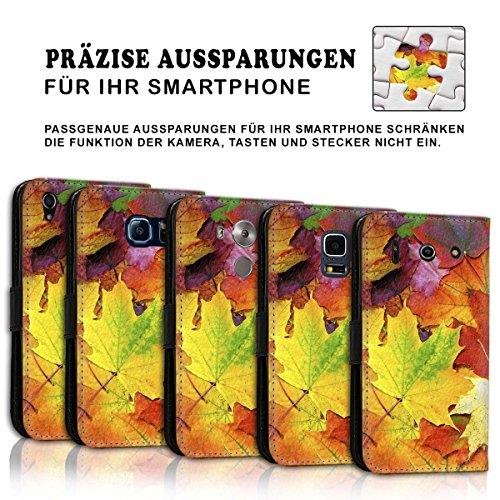 Wallet Book Style Flip Handy Tasche Case Schutz Hülle Schale Motiv Etui für Apple iPhone 6 / 6S - Design Flip MVD120