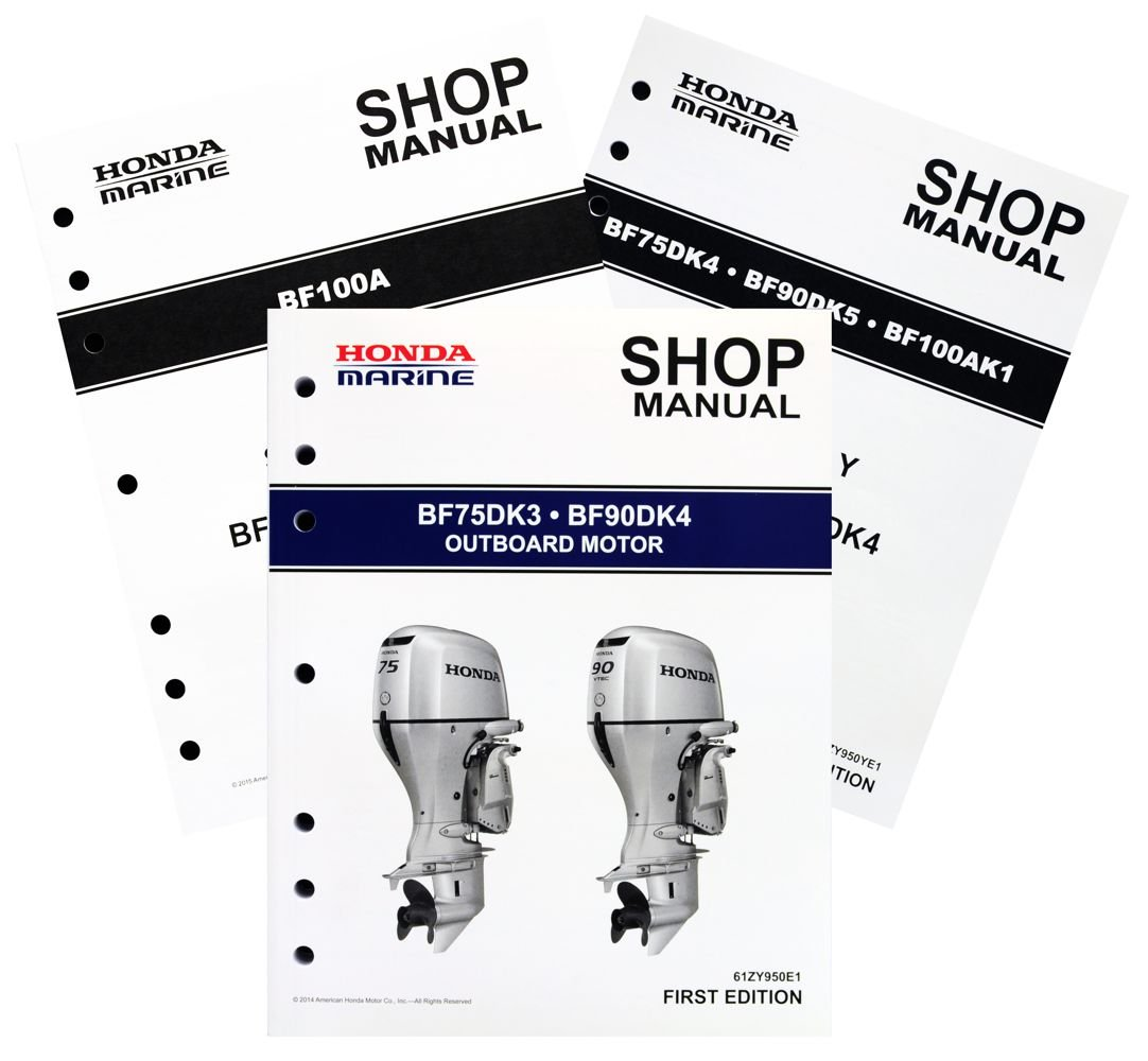 Amazon.com : Honda BF75 BF90 D BF100 A Model Marine Outboard Service Repair  Shop Manual : Sports & Outdoors