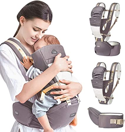 Baby Carrier Backpack Front and Back Ergonomic Soft Structured Sling 4-Position