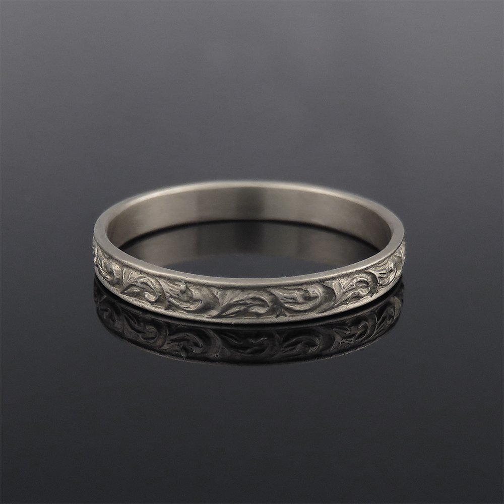 dainty wedding band in sterling silver bohemian silver ring silver wedding ring