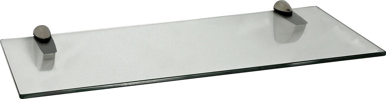 Halterungen Peli Edelstahloptik Wandregal 400 x 150 x 8 mm klar 36 Variationen IB-Style Glasregal