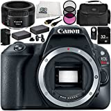 Canon EOS Rebel SL2 DSLR Camera with EF 50mm f/1.8 STM Lens 11 Accessory Bundle – Includes 32GB SD Memory Card + 2x Replacement Batteries + MORE - International Version (No Warranty)