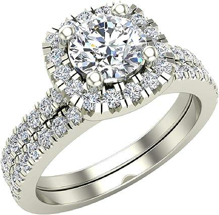 anillo de oro blanco envuelto de diamantes