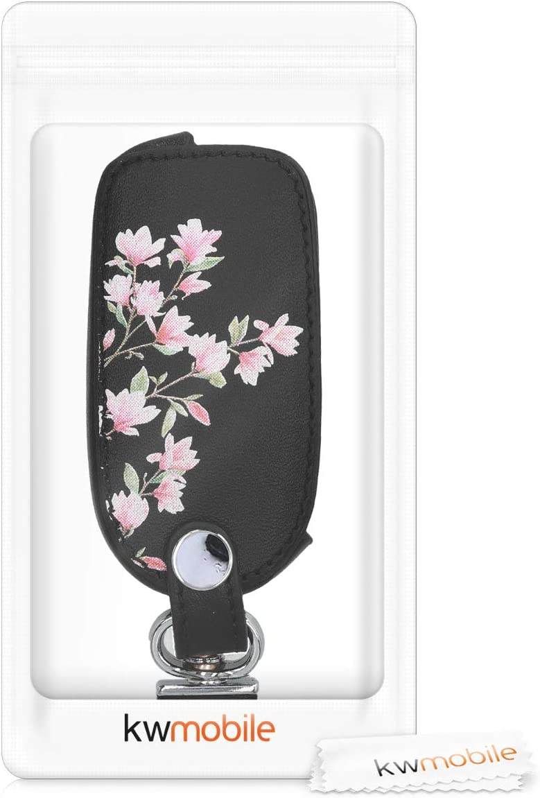 I Love My Car White//Red//Black Heavy Duty PU Leather Protective Key Fob Cover for VW Skoda SEAT 3 Button Car Key kwmobile Car Key Cover for VW Skoda Seat
