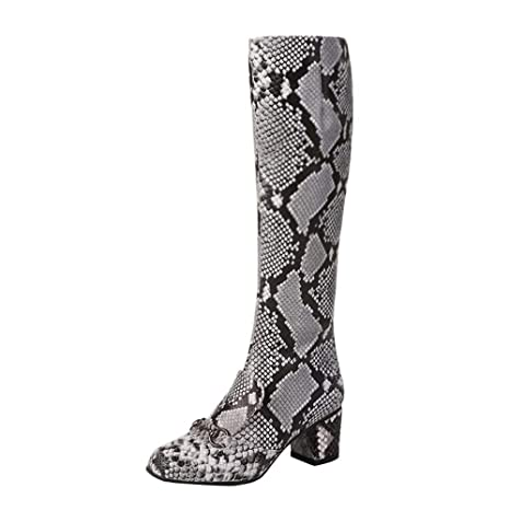 c1f8eca1deaa5 Amazon.com: for Shoes,AIMTOPPY Ladies Fashion Warm Thick with Snake ...