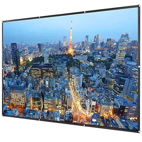 VIVO 120 inch 2-Sided Foldable Anti-Crease Projector Screen | Indoor Outdoor 16:9 HD Projection Portable Movie Screen with Hanging Equipment (PS-F-120A)
